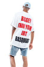 Load image into Gallery viewer, Leroyaume t-shirt streetwear  JEAN-MICHEL BASQUIAT blanc dos porté