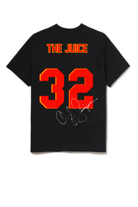 Leroyaume t-shirt graphic streetwear O.J SIMPSON THE JUICE 32 noir dos