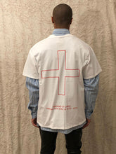 Load image into Gallery viewer, Leroyaume t-shirt streetwear plus blanc porté dos