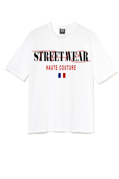 T-shirt streetwear streetwear the new haute couture leroyaume blanc