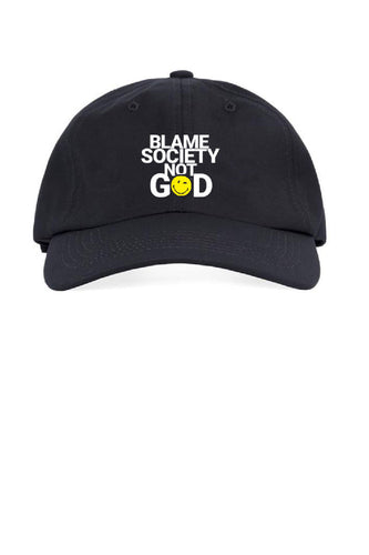Blame Society Not God Smiley daddy Cap