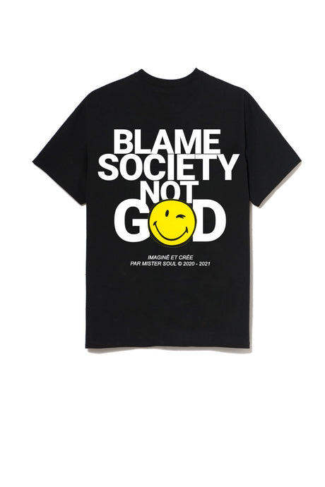 Blame Society Not God T-shirt Smiley