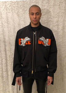Leroyaume bomber jacket FREEDOM EAGLE PATCH