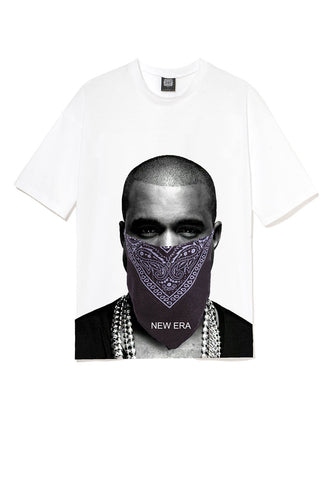 Leroyaume T-shirt New Era Kanye West Blanc Face