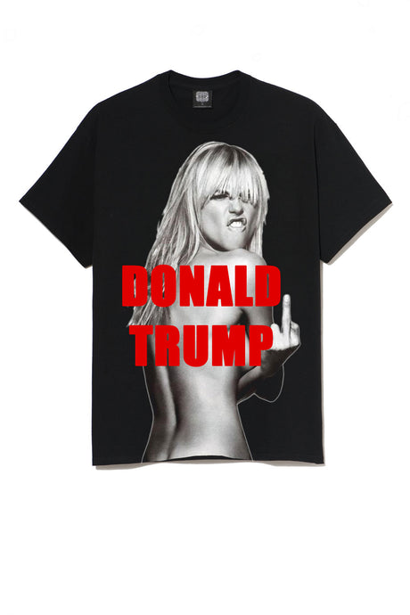 Leroyaume T-shirt Kate Moss Fuck Racism And Donald Trump
