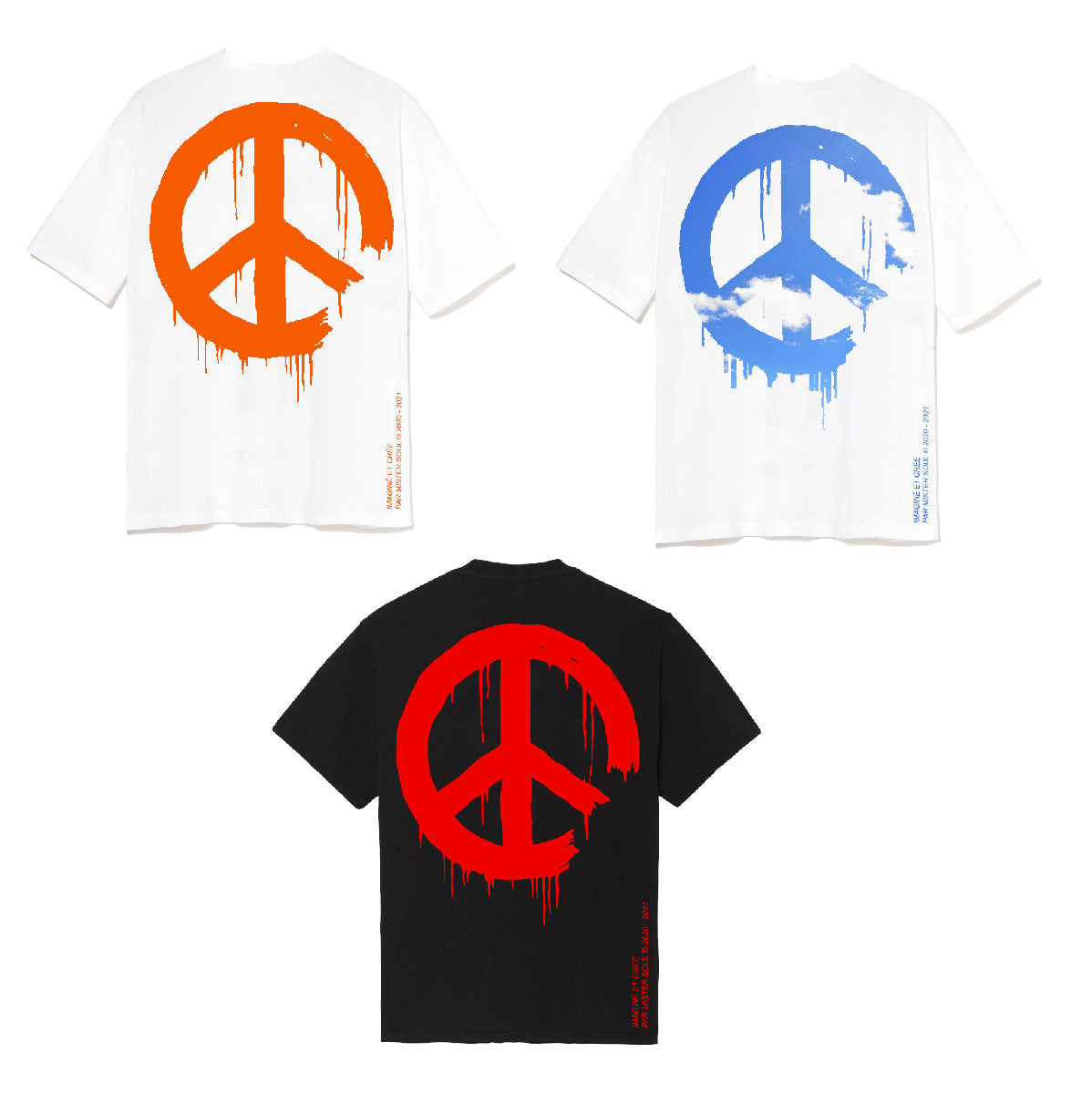 Leroyaume Lot 3 T-shirt Peace and Freedom