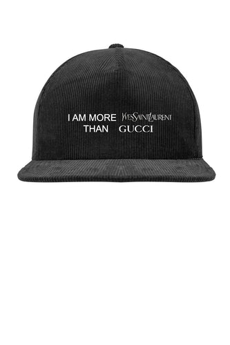 Leroyaume Casquette Brodé More Saint Laurent Than Gucci