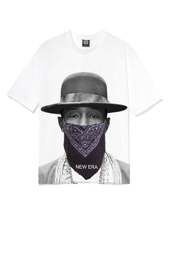 Leroyaume T-shirt New Era Pharell Williams Blanc Face