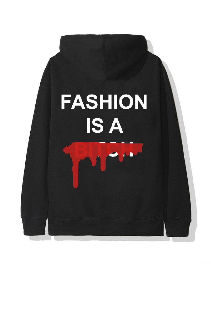 SWEAT-SHIRT A CAPUCHE STREETWEAR - FASHION IS A BITCH V2 - LEROYAUME