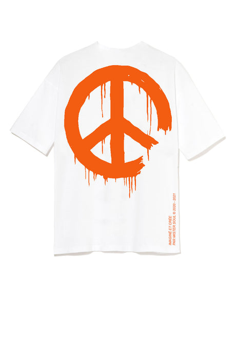 Leroyaume T-shirt Peace and Freedom Logo Orange