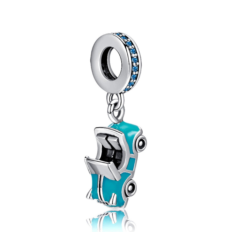 Blue Convertible Sports Car Bead Charm - Bolenvi Pandora Disney