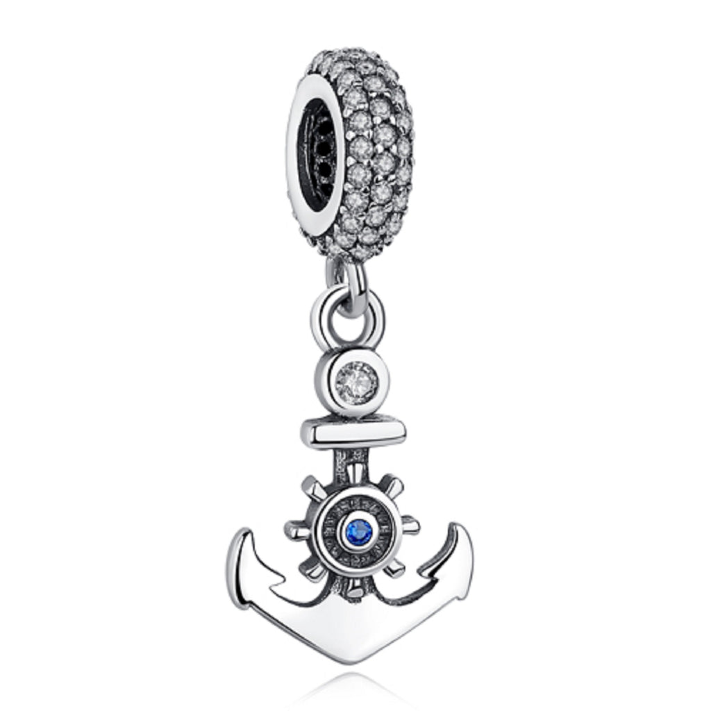 Sailors Anchor Sterling Silver Bead Charm - Bolenvi Pandora Disney Chamilia Jewelry