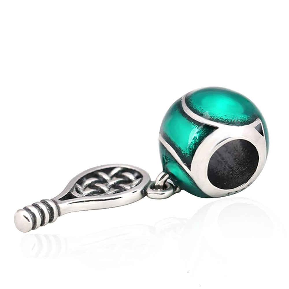 Tennis Ball Racket Bead Charm - Bolenvi Pandora Disney Chamilia Jewelry