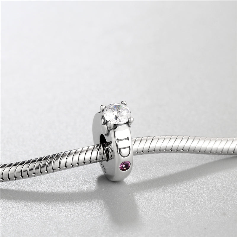 I Do Engagement Ring Stopper Bead Charm - Bolenvi Pandora Disney Chamilia Jewelry