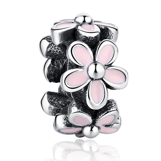 Magnolia Blooming Flower Spacer Bead Charm - Bolenvi