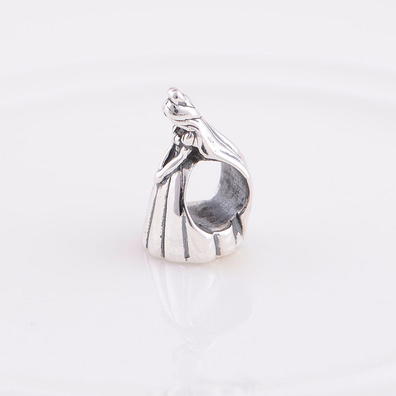 Wedding Dress Sterling Silver Bead Charm - Bolenvi Pandora Disney Chamilia Jewelry