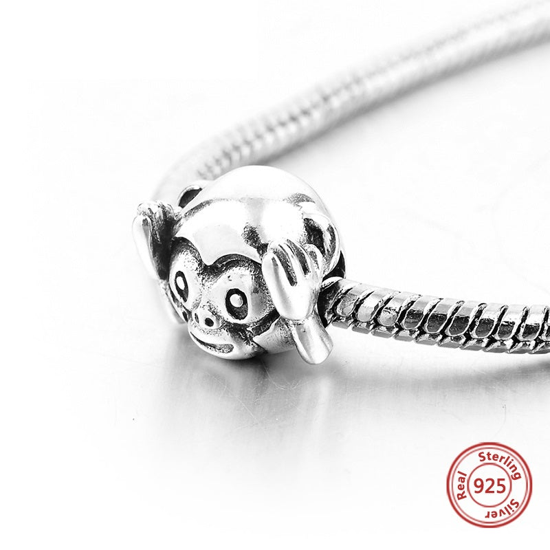 Hear No Evil Money Sterling Silver Bead Charm - Bolenvi Pandora Disney Chamilia Jewelry