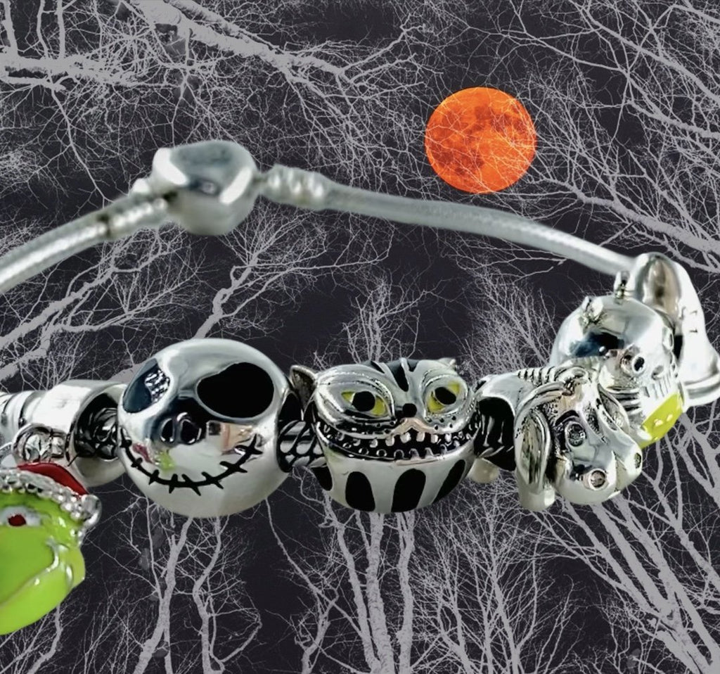 Cheshire Cat from Alice in Wonderland Sterling Silver Bead Charm - Bolenvi Pandora Disney Chamilia Jewelry