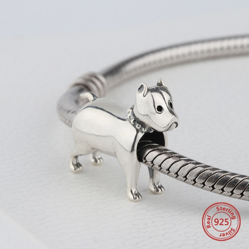 Pitbull Bully Dog Bead Charm - Bolenvi Pandora Disney
