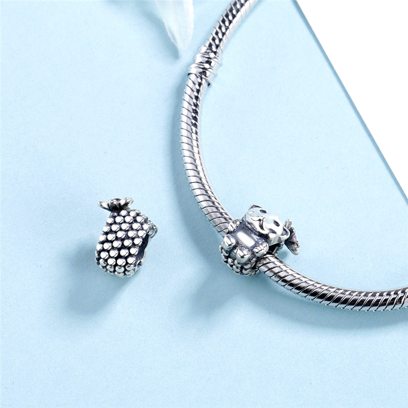 Cute Hedgehog Sterling Silver Bead Charm - Bolenvi Pandora Disney Chamilia Jewelry