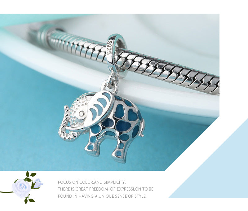 Glow in The Dark Elephant Sterling Silver Bead Charm - Bolenvi Pandora Disney Chamilia Jewelry