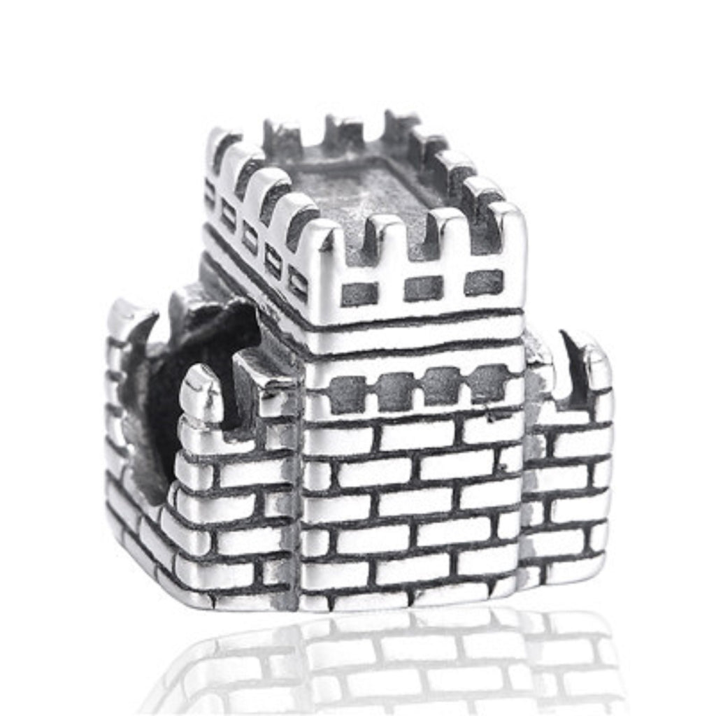 Great Wall of China Sterling Silver Bead Charm - Bolenvi Pandora Disney Chamilia Jewelry