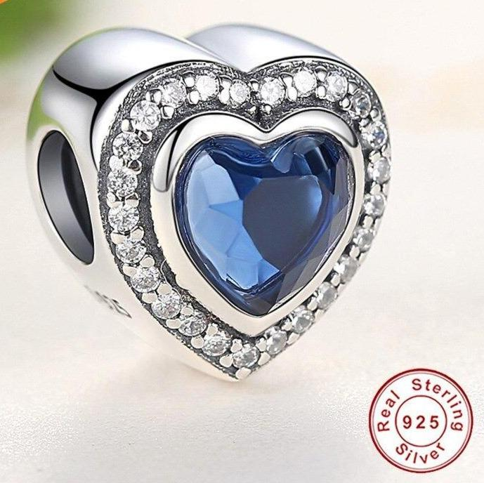 Titanic Heart of The Ocean Sterling Silver Bead Charm - Bolenvi Pandora Disney Chamilia Jewelry