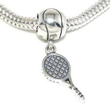 Tennis Racket Bat & Ball Bead Charm - Bolenvi Pandora Disney Chamilia Jewelry