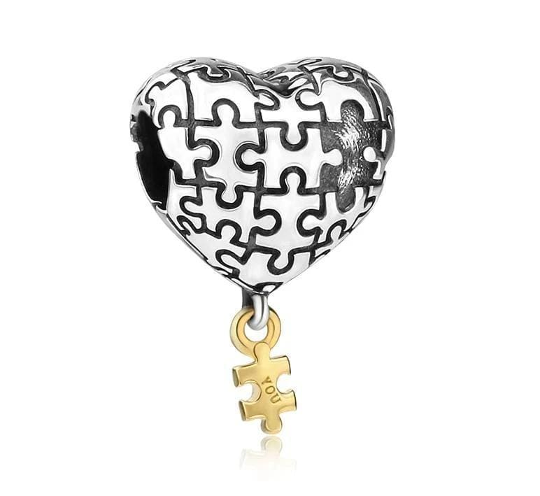 My Missing Piece Sterling Silver Bead Charm - Bolenvi Pandora Disney Chamilia Jewelry