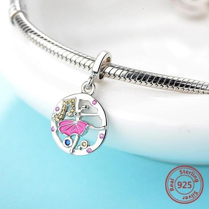 Performing Arts Dancer Sterling Silver Bead Charm - Bolenvi Pandora Disney Chamilia Jewelry