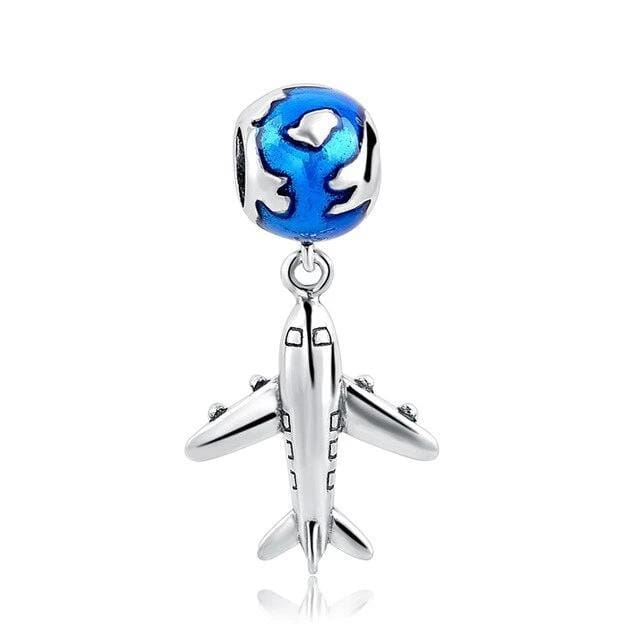 Travel The World Sterling Silver Bead Charm - Bolenvi Pandora Disney Chamilia Jewelry