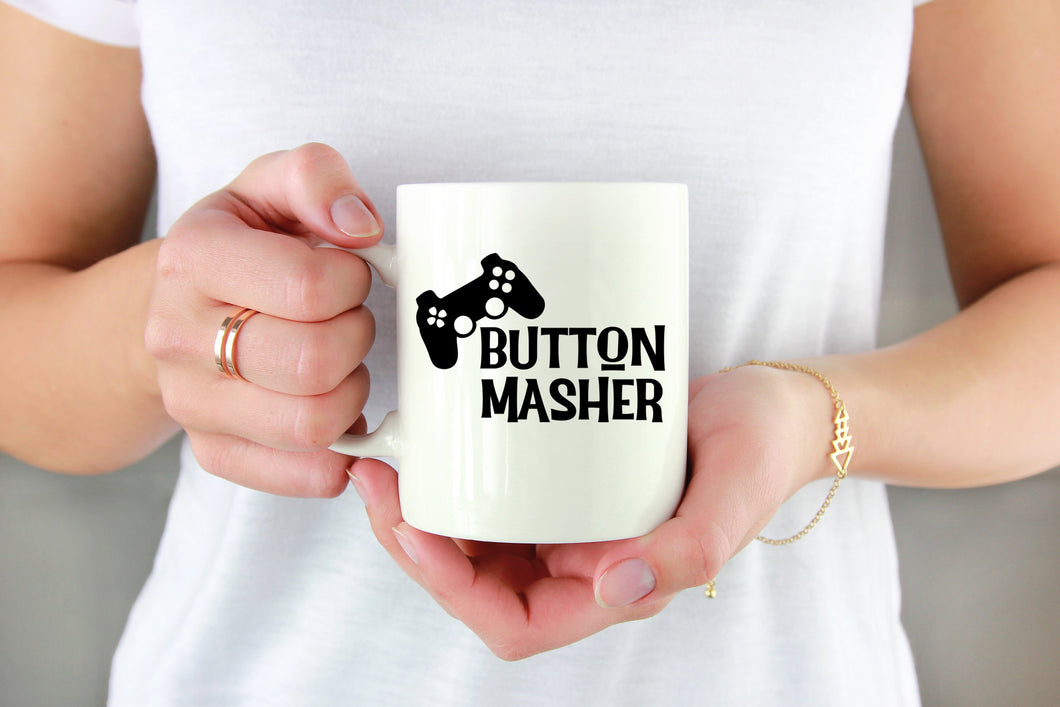 Button Masher Vinyl Decal