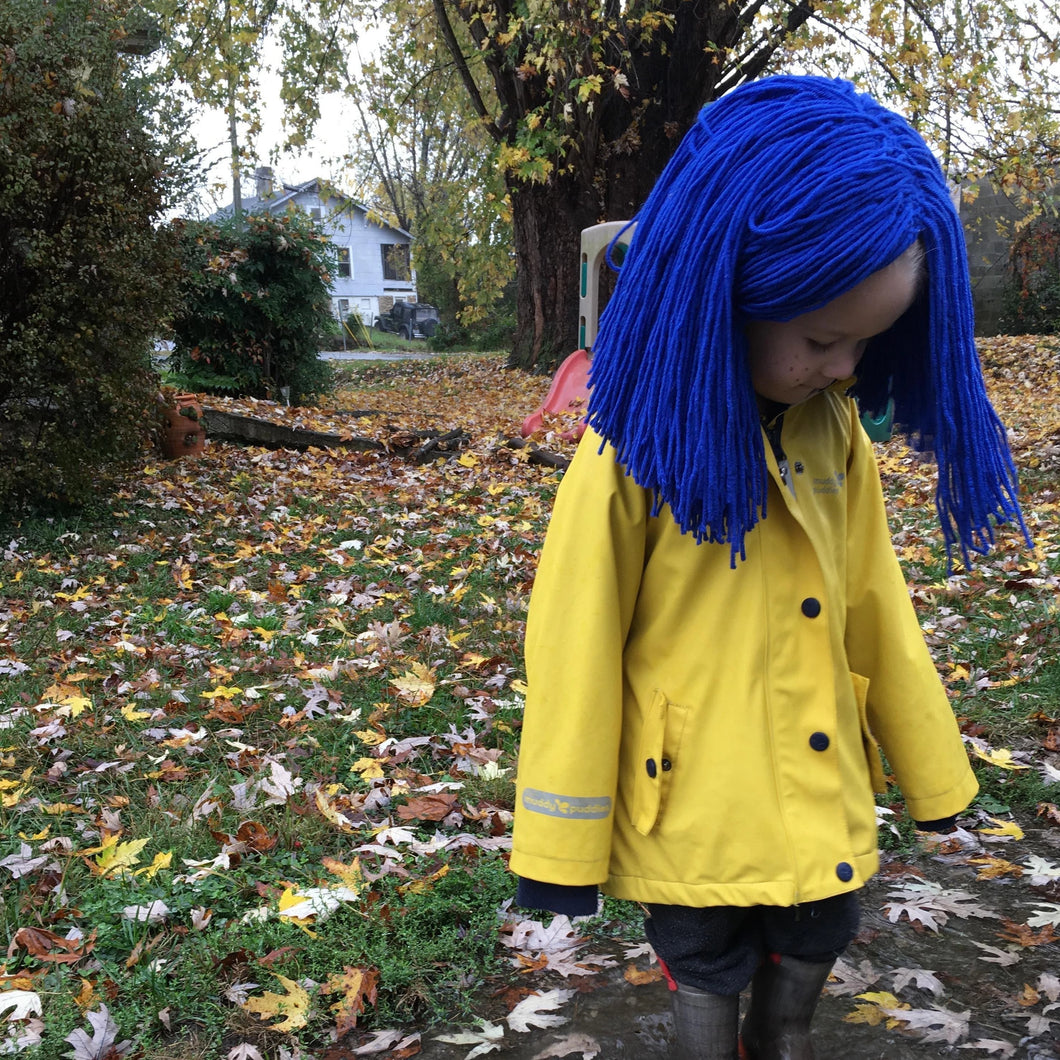 Coraline Doll Inspired Yarn Wig