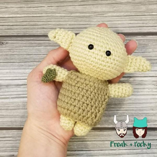 Mini Size Dobby the Sock Elf Crocheted Poppet Doll by Freak + Pocky