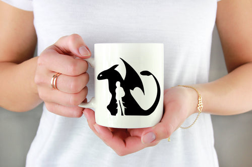 Dragon & Dragon Rider Vinyl Decal