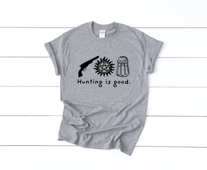 Hunting Is Good on Gray T-Shirt by Freak + Pocky