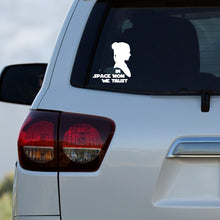 Load image into Gallery viewer, In Space Mom We Trust Silhouette Vinyl Decal