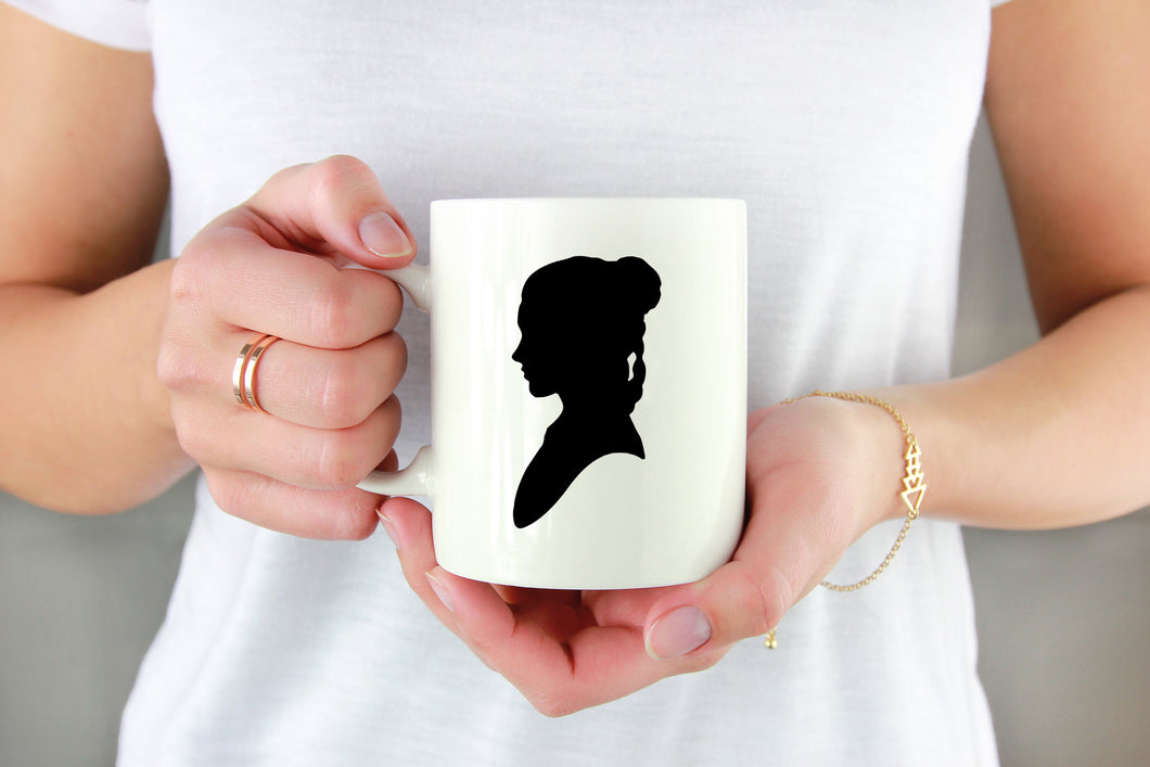 Princess Leia Silhouette Vinyl Decal