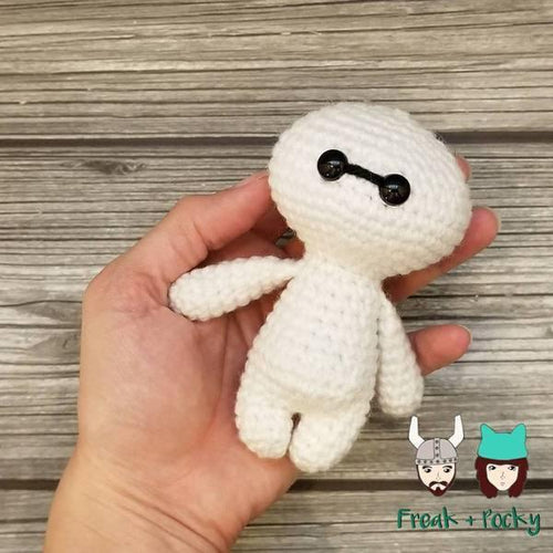 Mini Size Baymax the Robot Nurse Crocheted Poppet Doll by Freak +Pocky