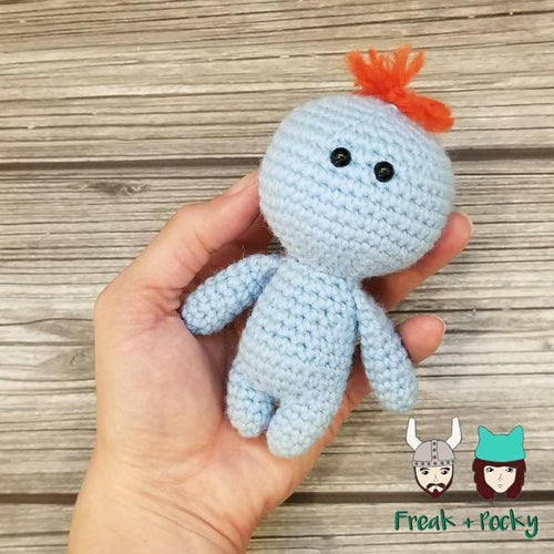 Mini Size Meeseeks Crocheted Poppet Doll by Freak + Pocky