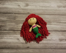 Load image into Gallery viewer, Mini Size Mermaid Crocheted Poppet Doll by Freak + Pocky