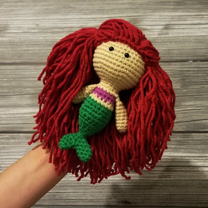 Mini Size Mermaid Crocheted Poppet Doll by Freak + Pocky