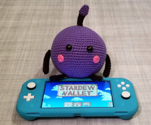Load image into Gallery viewer, Purple Stardew Valley Junimo the Forest Spirit Poppet by Freak + Pocky