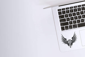 Supernatural Anti-Possession with Wings Decal on Laptop