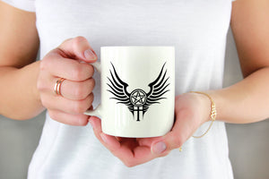 Supernatural Anti-Possession with Wings Decal on Mug