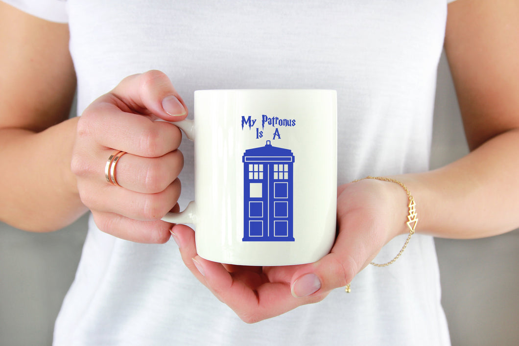 My Patronus Is A TARDIS Vinyl Decal - Freak + Pocky