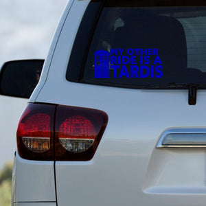 My Other Ride Is A TARDIS Decal by Freak + Pocky