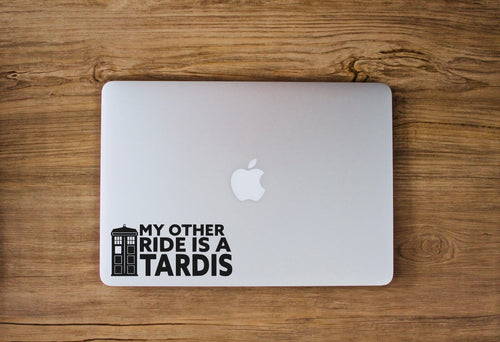 My Other Ride Is A TARDIS Vinyl Decal
