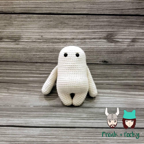 Original Size Adipose Crocheted Poppet Doll by Freak + Pocky