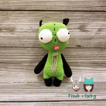 Load image into Gallery viewer, Original Size Gir the Mongoose Dog Crocheted Poppet Doll by Freak + Pocky